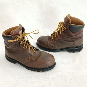 🔨 Carhartt Leather Safety Toe Work Boots Size 11 🔨